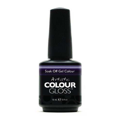 Artistic Nail Design Soak Off Colour Gloss Gel Dark Purple Polish 03067 Royalty