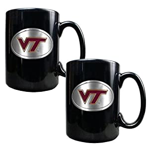 NCAA Two Piece Black Ceramic Mug Set by Great American Products