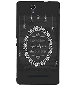 SONY XPERIA C3 LOVE IS NOT BLIND Back Cover by PRINTSWAG
