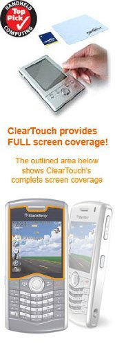 BoxWave T-Mobile BlackBerry Pearl 8120 ClearTouch Anti-Glare Screen Protector (Single Pack)