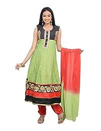Sareeshut Women's Net Regular Fit Anarkali Suits - B00WQYY1BC