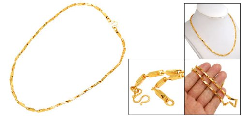 Rosallini Fashion Golden Tone Alloy-plated Men's Necklace