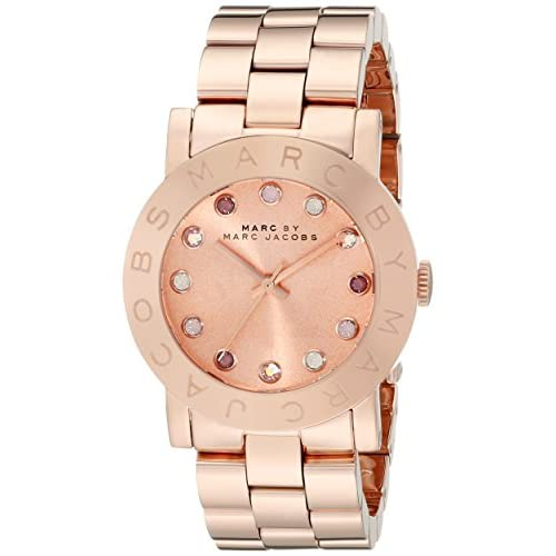Rose Gold Tone Stainless Steel Case and Bracelet Rose Gold Tone Dial