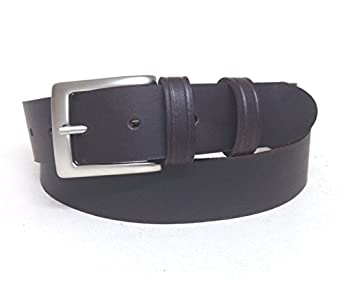 s and s brown leather belt 35mm wide for