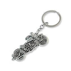 Sarah Bike Silver Color Key Chain