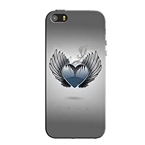 HEART WITH WINGS BACK COVER FOR IPHONE 5