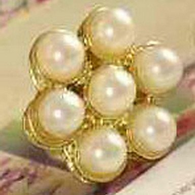 Cheap New Korean Jewelry Pearl Flower Earrings Temperament Retro Delicate Female E605
