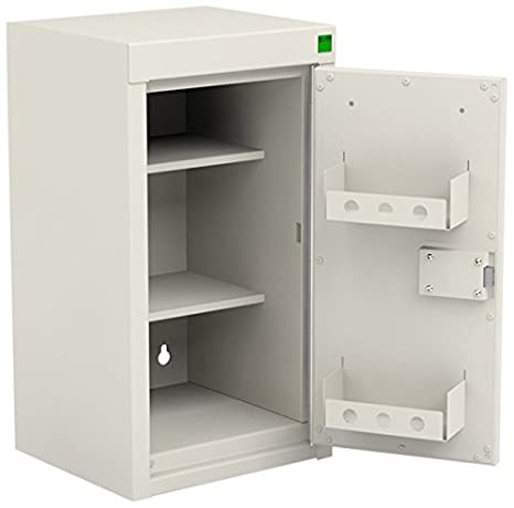 Bott Controlled Drug Cabinet, Metal, White, 335 x 300 x 600 mm