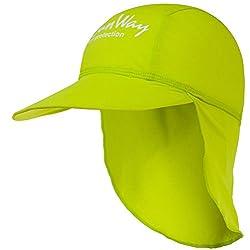 SunWay Baby Kids Girls Boys Apple Green Legionnaire Hat Cap UV protective (UPF 50+) (Kids 2-7 years)