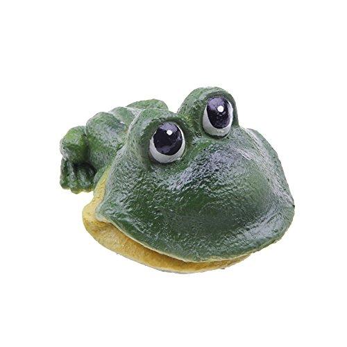 EmoursTM Cute Frog Live-Action Aerating Aquarium Ornament Aquatic Resin Decoration for Fish Tank (Frog Tank Accessories compare prices)