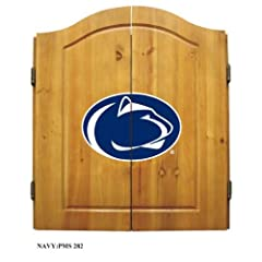 NCAA Penn State Nittany Lions Team Dartboard Cabinet Set by Imperial