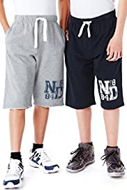 2 Pack Cotton Rich Contrast Drawstring Shorts