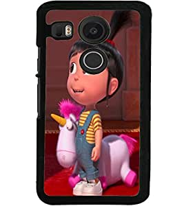 ColourCraft Cute Doll Design Back Case Cover for LG GOOGLE NEXUS 5X