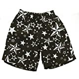 Nautical Stars Charcoal Toddler Swim Trunks-2T