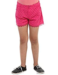 Oxolloxo Girls cotton pink shorts