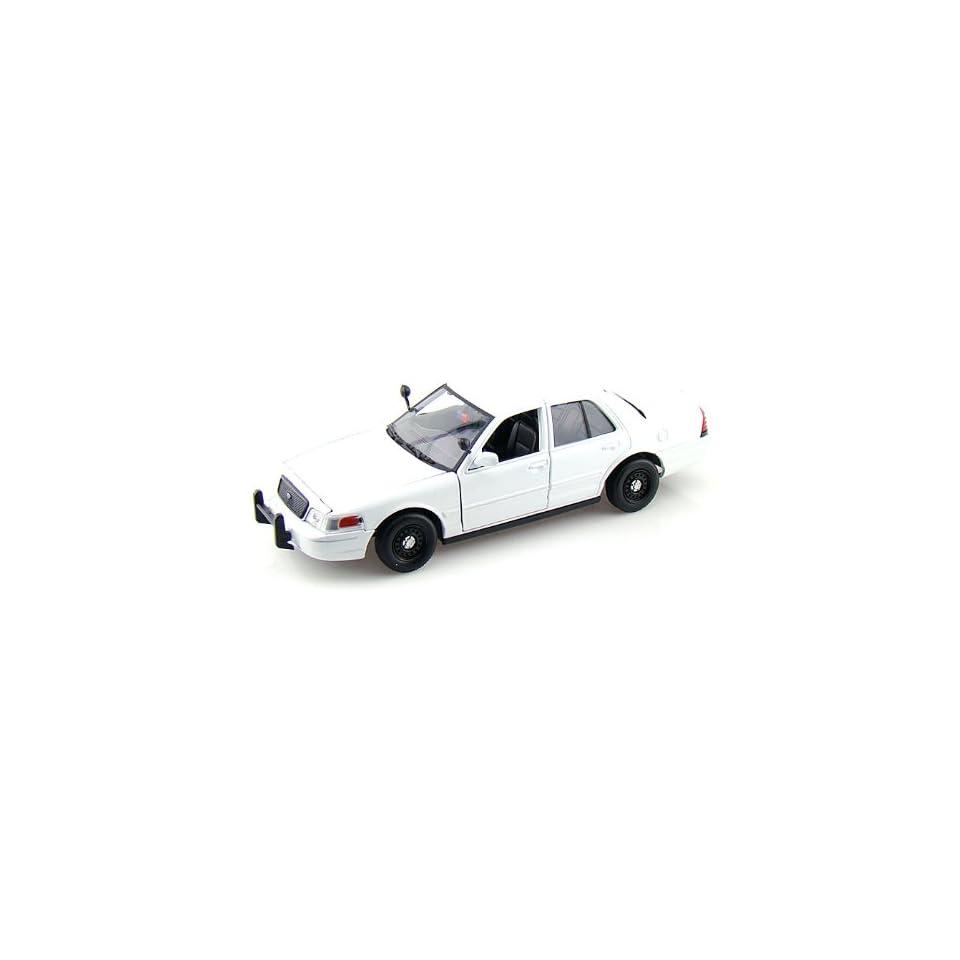 2007 Ford Crown Victoria Police Interceptor Slick Top 1/24 Plain White