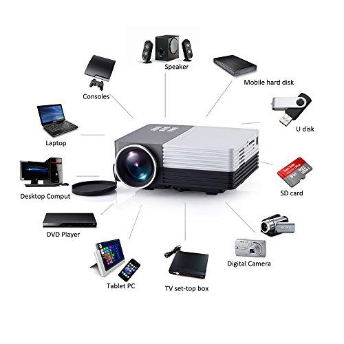 Video projectors mini multimedia maximum 100 screen for Micro projector for ipad