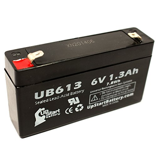 Tempest Tr1.3-6 Battery - Replacement Ub613 Universal Sealed Lead Acid Battery (6V, 1.3Ah, 1300Mah, F1 Terminal, Agm, Sla) - Includes Two F1 To F2 Terminal Adapters
