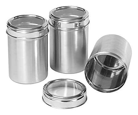 Dynamic Store Stainless Steel Kitchen Storage Canisters With See Through Lid