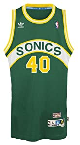 Buy Shawn Kemp Seattle Supersonics Adidas NBA Throwback Swingman Jersey - Green by adidas