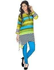 Yogalz Women Multi Color Georgette Kuri Ladies Casual Wear Party Wear Kurta