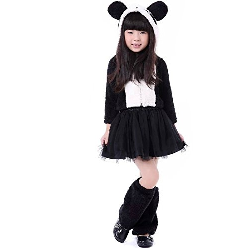 Children Lesser Panda Cute Costume,Small,Black