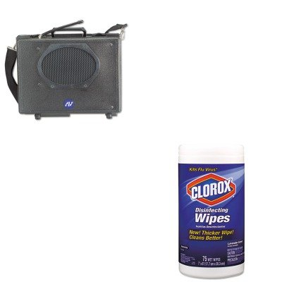 KITAPLSW222COX01761EA - Value Kit - Amplivox Wireless Audio Portable Buddy Professional Group Broadcast PA System (APLSW222) and Clorox Disinfecting Wipes (COX01761EA) kitaapbr181cycox01761ea value kit best hospitality wall cabinet aapbr181cy and clorox disinfecting wipes cox01761ea