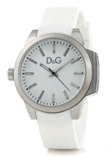 Dolce & Gabbana Women's Watch Analogue Quartz DW0746 with White Silicon Strap White Dial
