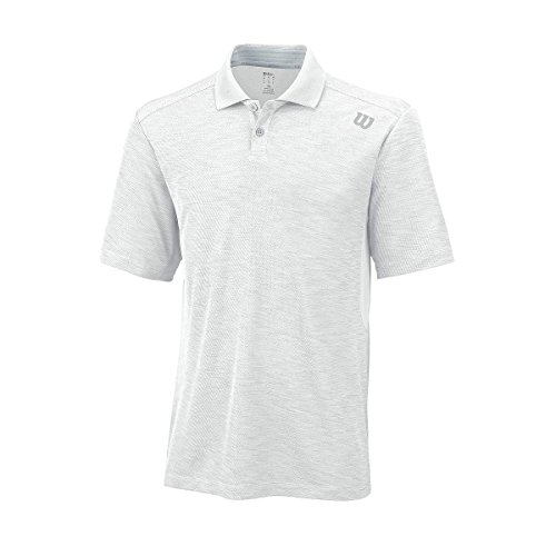 Wilson M Textured Polo, Bianco, M