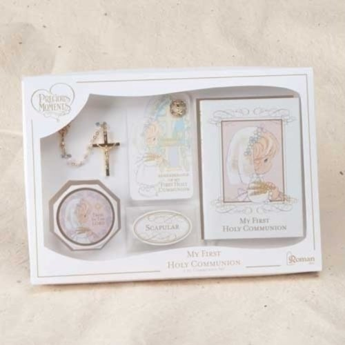 Precious Moments First Holy Communion Girl Deluxe 6 Piece Gift Set