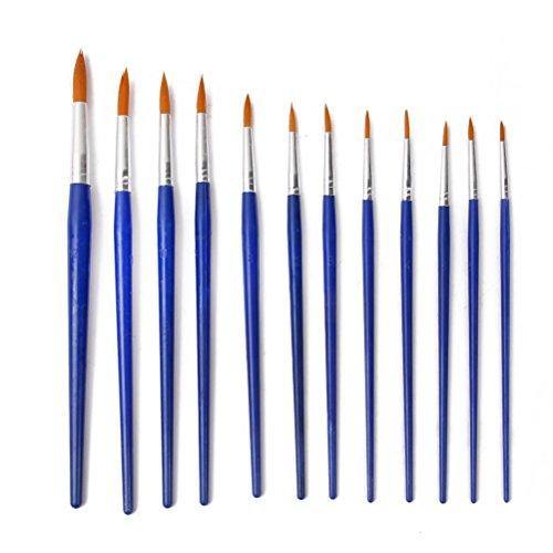 tinksky 12st wies pinsel set f r lfarbe acrylfarbe blau. Black Bedroom Furniture Sets. Home Design Ideas