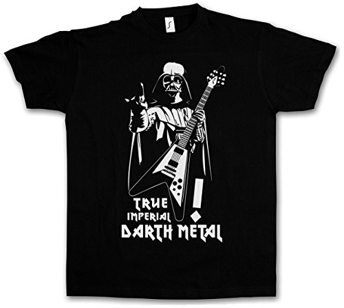TRUE IMPERIAL DARTH METAL T-SHIRT - Star Dark Vader Wars Music Black Darkthrone Gothic Death Festival Taglie S - 5XL