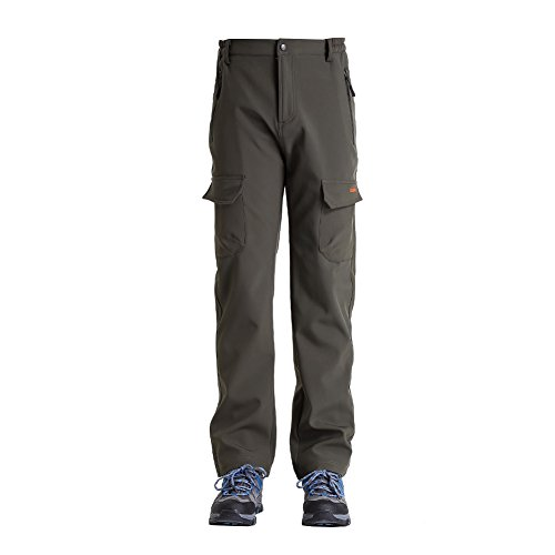 Clothin Mens Ski Pants - Snow Pants/ Fleece Lined/ Water-repellent(US XL, Army Green) (Fly Insulated Pants compare prices)