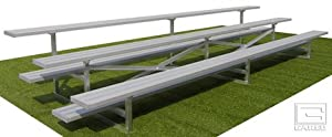 15 Fixed Stationary Bleachers 3 Row from Gared Sports, Inc.
