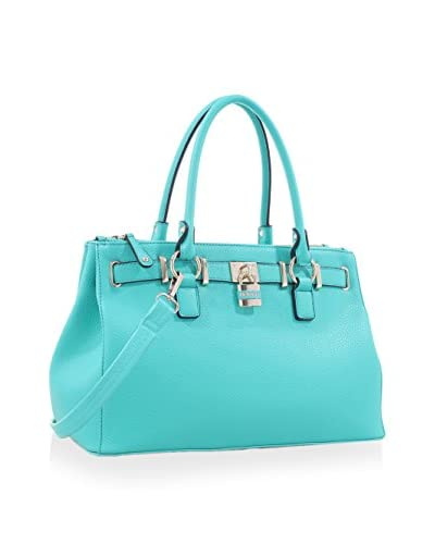 Deluxity Women's Evelyn Satchel, Turquoise