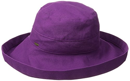 scala-womens-cotton-big-brim-hat-with-inner-drawstring-grape-one-size