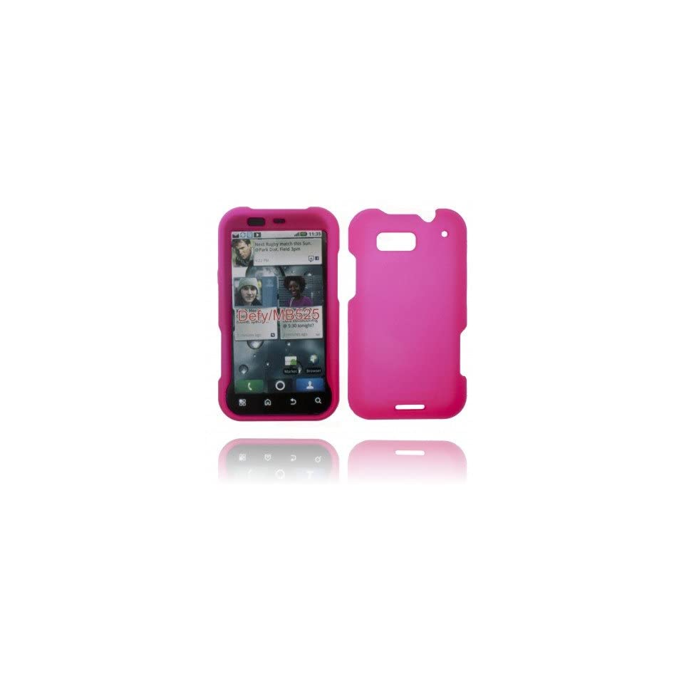 SNAPON SOLID HOT PINK CASE FOR MOTOROLA DEFY MB525