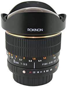 Rokinon FE8M-P 8mm F3.5 Fisheye Lens for Pentax (Black)