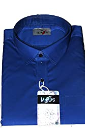 The Mods Blue Plain Shirt