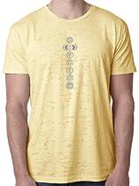 Yoga Clothing For You 7 Chakras Mens Burnout Tee Shirt, Medium Banana