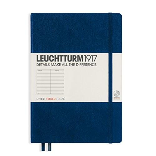 Leuchtturm1917(ロイヒトトゥルム)横罫(LINE)ノートブック!ミディアムサイズ!限定カラーネイビー!