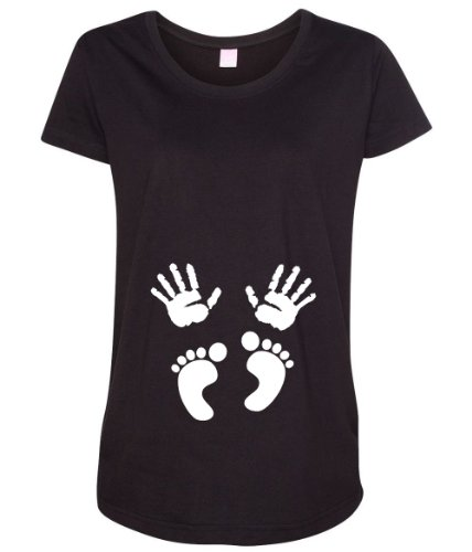 Baby Hand and Feet Print Women's Maternity T-Shirt