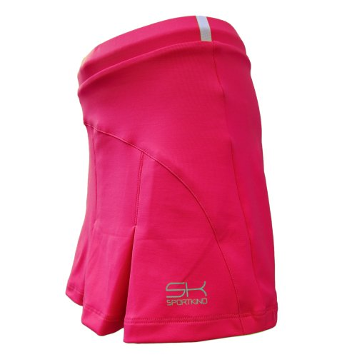 Girls and Ladies Tennis / Hockey Pleated Skort (= skirt with an integrated trouser) in pink from size 4 years to Large