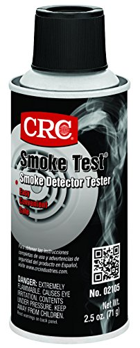 CRC Smoke Test Brand Liquid Smoke Detector Tester, 2.5 oz Aerosol Can, Clear