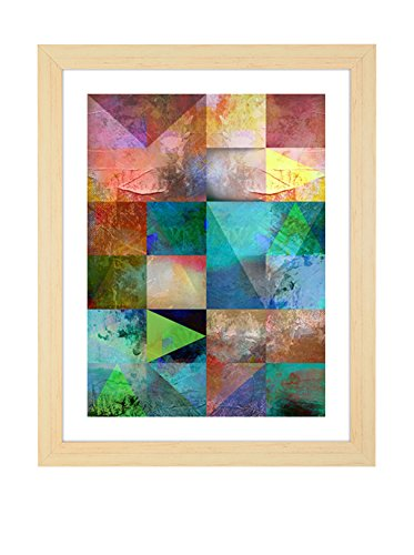 Tomasucci Geometrical Colours Quadro, Legno, Multicolore, 75x55x3 cm