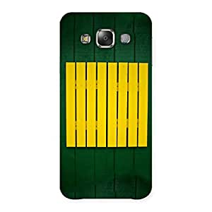 Delighted Green Squares Yello Back Case Cover for Galaxy E7