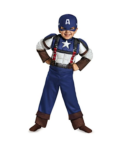 Captain America Retro Toddler Muscle Movie Costume