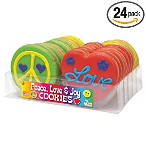 Peace, Love and Joy Decorated Cookies Tray