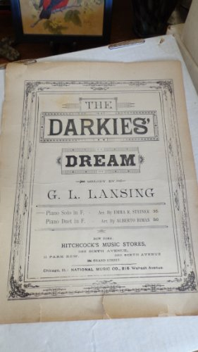 The Darkie's Dream Antique Sheet Music by G.L. Lansing Piano Solo in F PDF