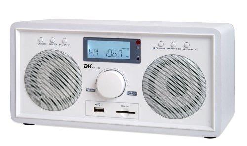 DK Digital RSU-150 Uhrenradio mit MP3, USB 1.1 und Kartenleser weiss (inkl. 25,- EUR Fluggutschein)